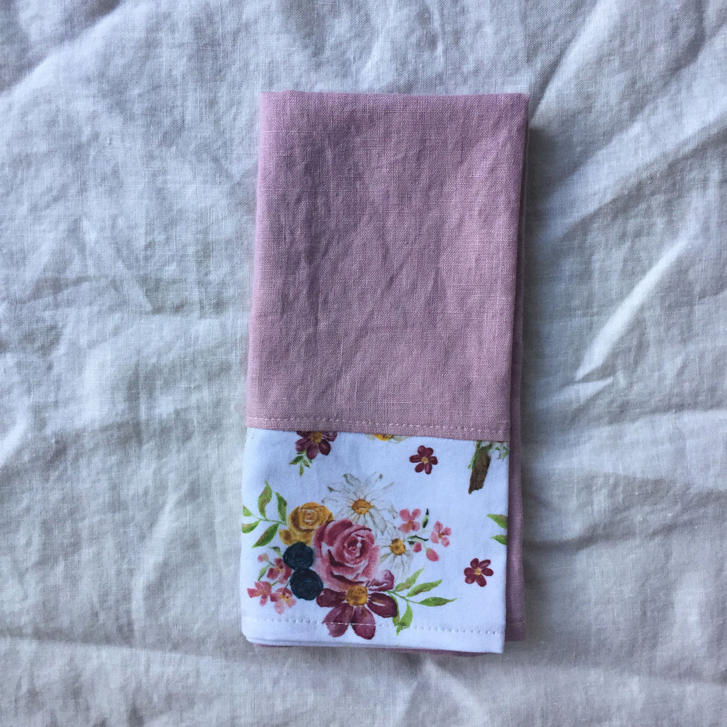 Saint Therese Set of 4 Napkins Made from Organic Linen and Organic Cotton
