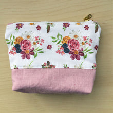 Load image into Gallery viewer, Saint Therese Zipper Pouch - Dusty Rose
