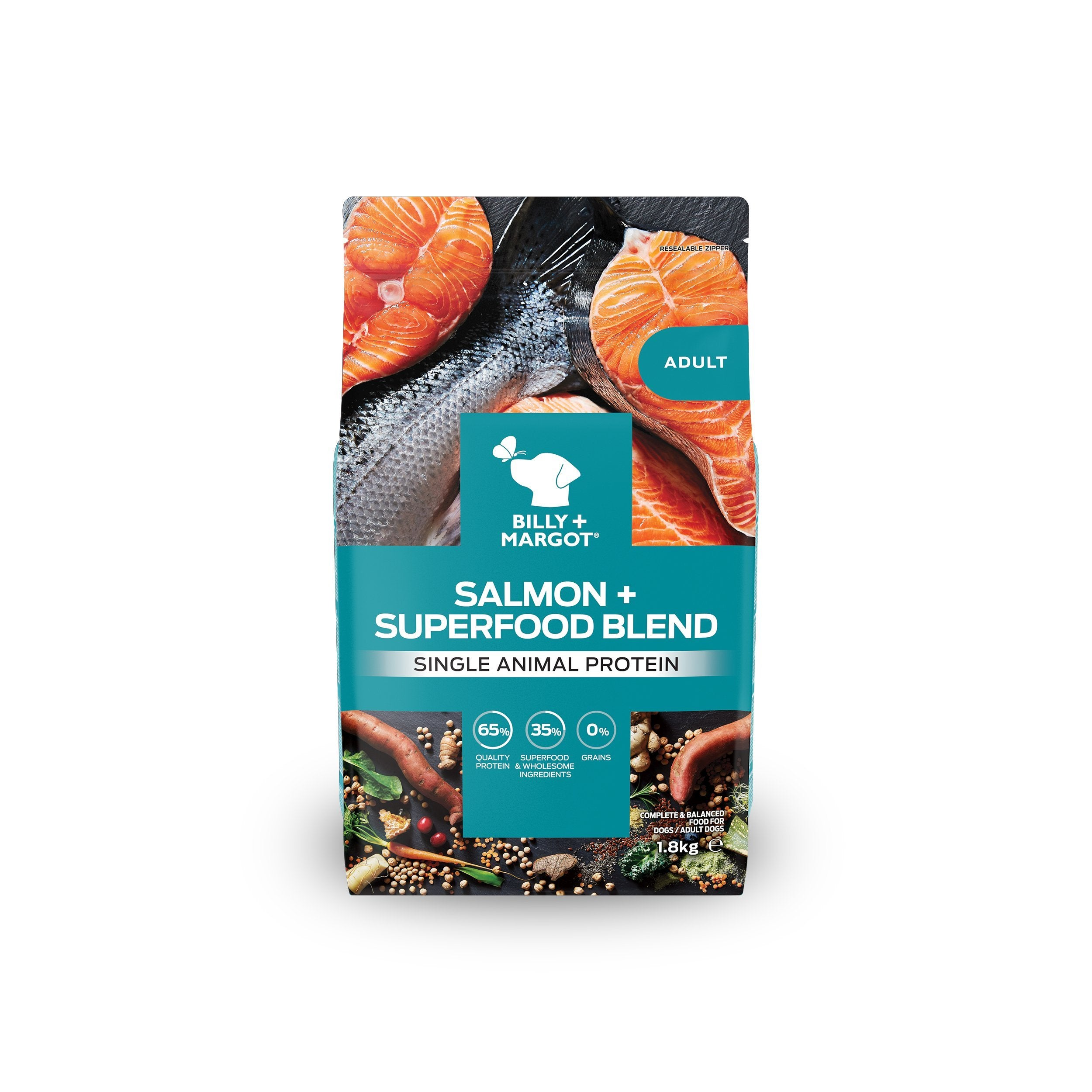 Billy + Margot Salmon + Superfoods Recipe Dry Dog Food