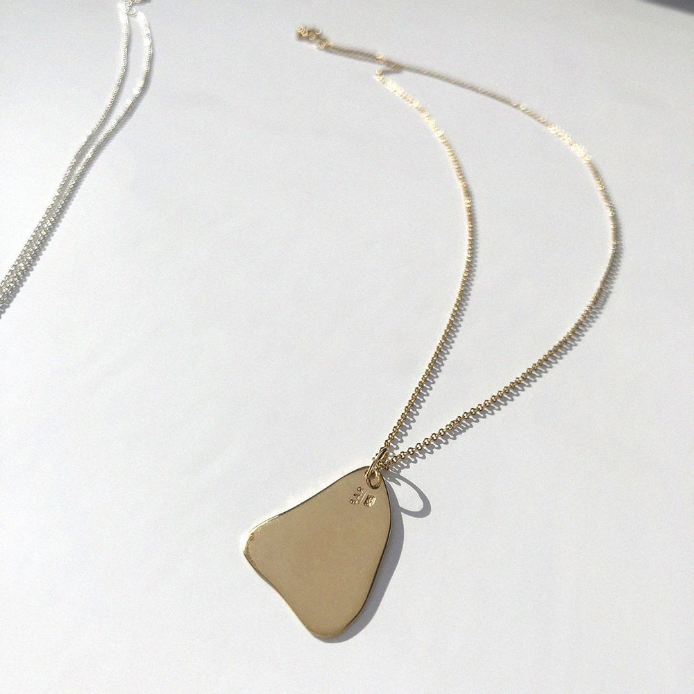 BAR Jewellery Sustainable Flux Necklace In Gold, Back View