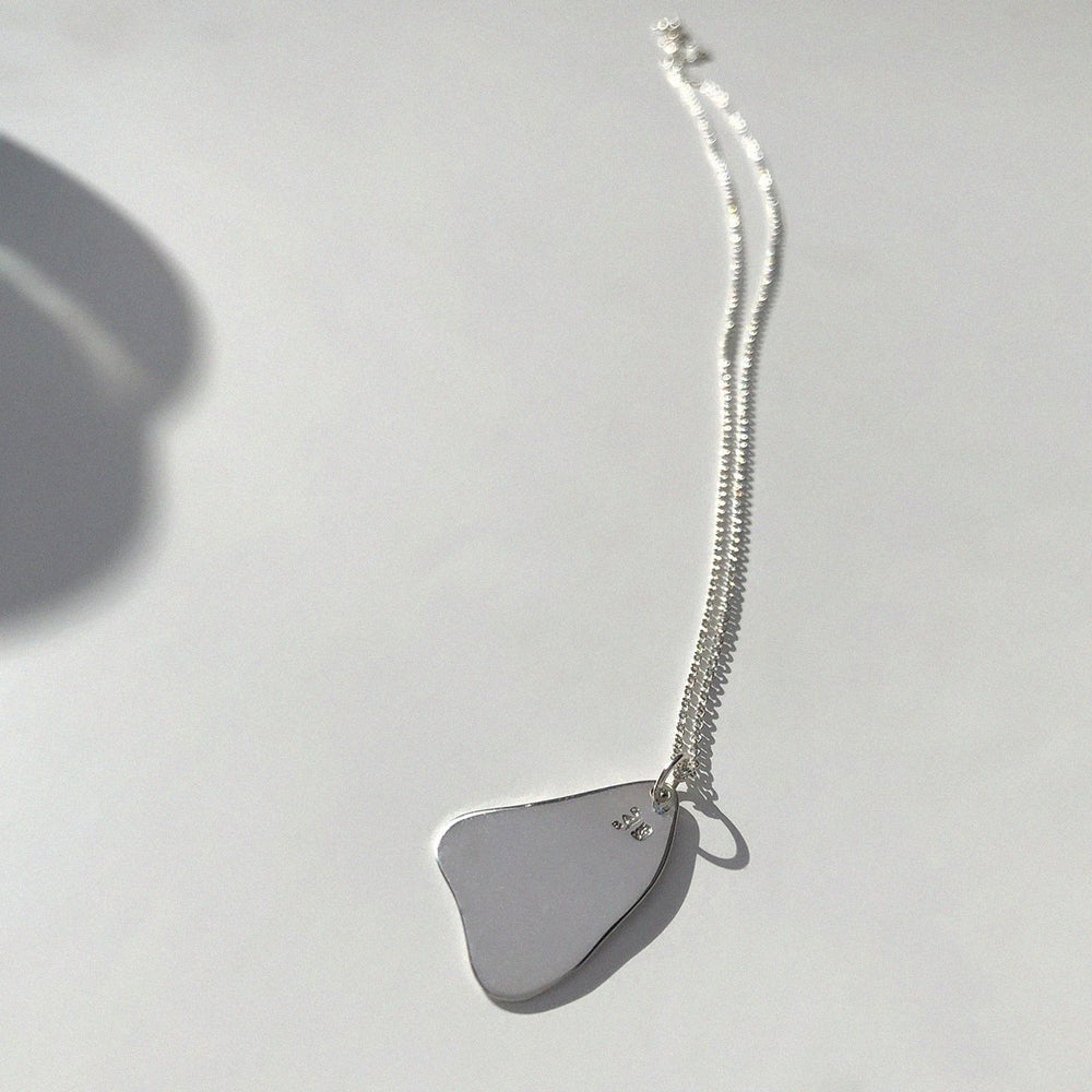 BAR Jewellery Sustainable Flux Necklace In Recycled Sterling Silver, Back View
