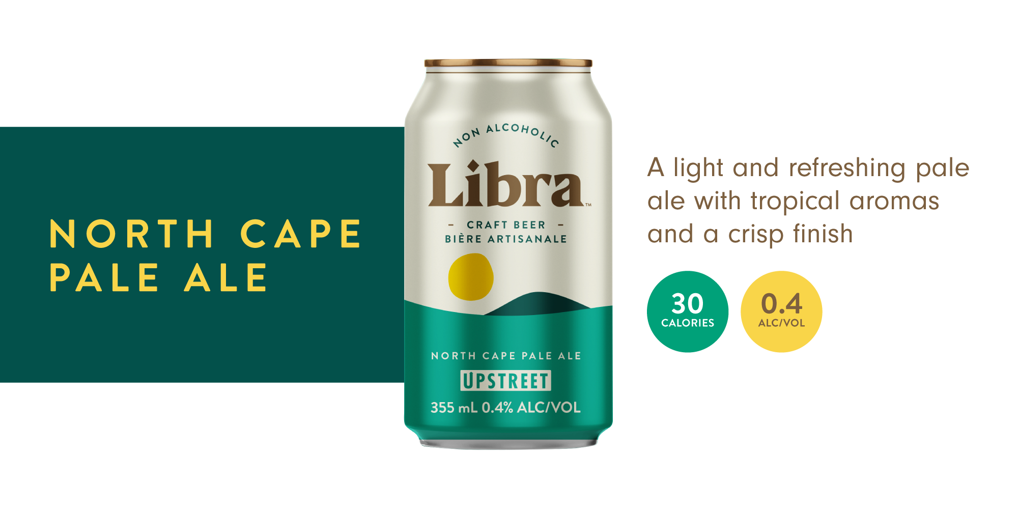 Libra, a light and refreshing pale ale beer with tropical aromas and a crisp finish.