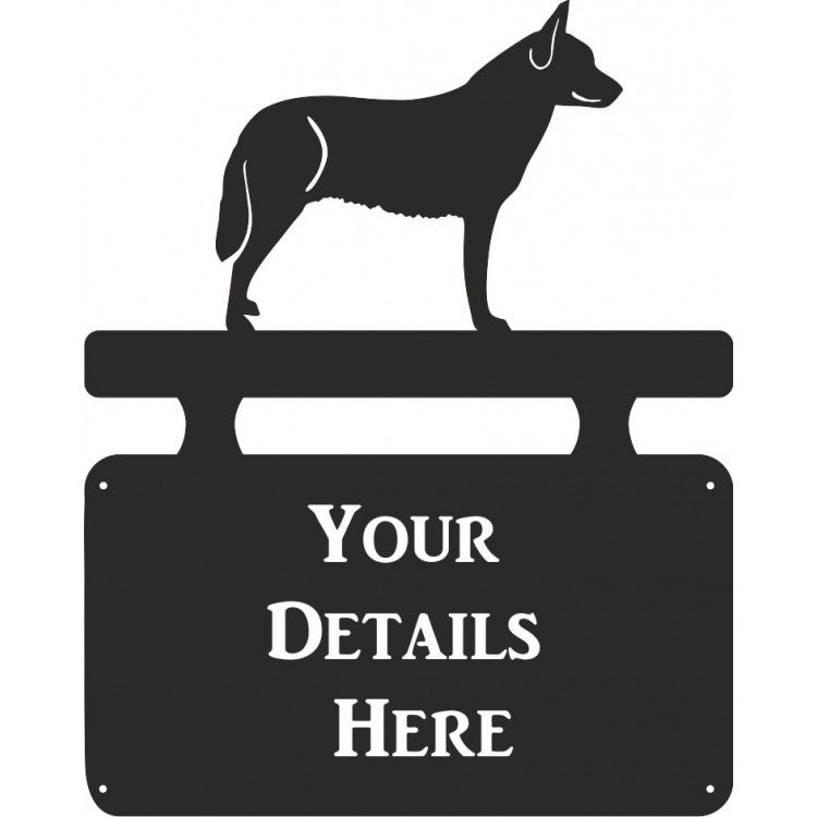 Australian Cattle Dog Name House Plaque