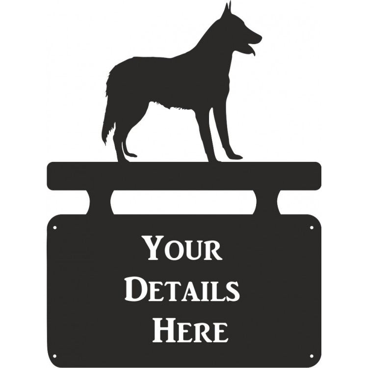 Belgian Malinios Dog  House Plaque - Attractive Metal Designs