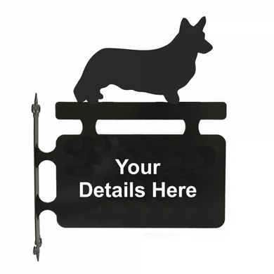 Welsh Corgi Cardigan Hanging Sign - Attractive Metal Designs