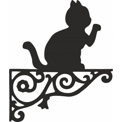 Lucky Cat Ornamental Metal Hanging Bracket - Attractive Metal Designs