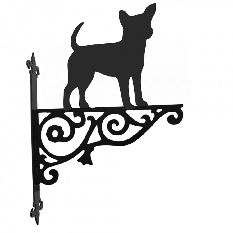 Chihuahua Ornamental Metal Hanging Bracket - Attractive Metal Designs