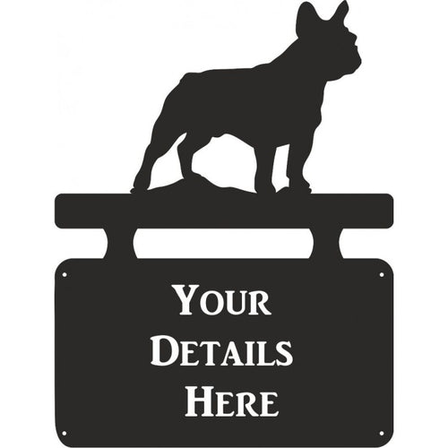 French Bulldog House Plaque - Attractive Metal Designs