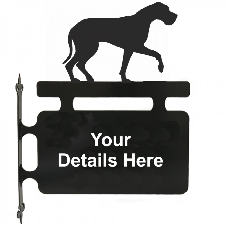 Great Dane Hanging Sign - Attractive Metal Designs
