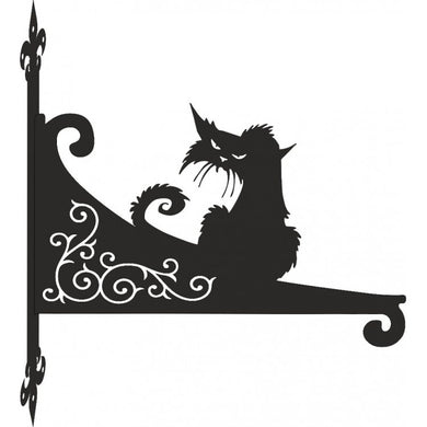 Grumpy Cat  Ornamental Scroll Metal Hanging Bracket - Attractive Metal Designs