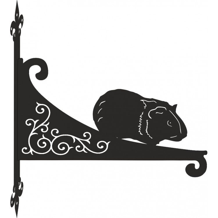 Guinea Pig Ornamental Scroll Metal Hanging Bracket