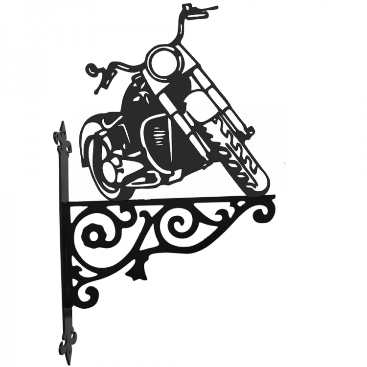 Harley Davidson Ornamental Metal Hanging Bracket - Attractive Metal Designs