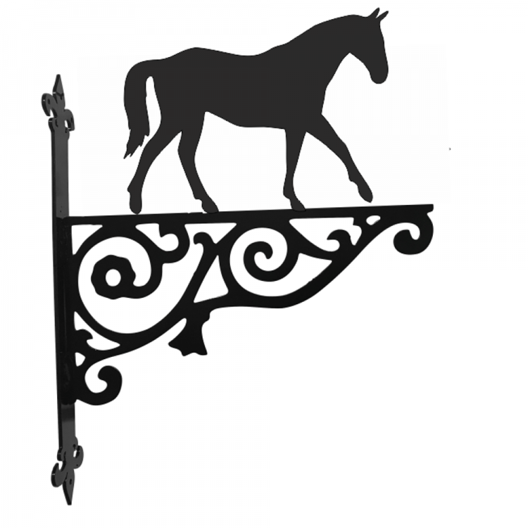 Horse Walking Ornamental Metal Hanging Bracket - Attractive Metal Designs