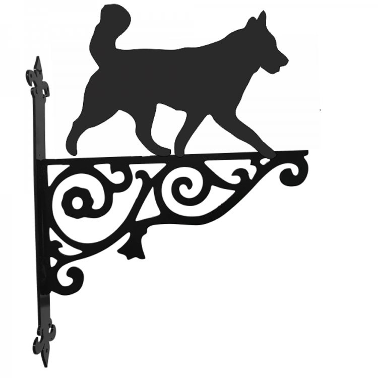 Husky  Ornamental Metal Hanging Bracket - Attractive Metal Designs