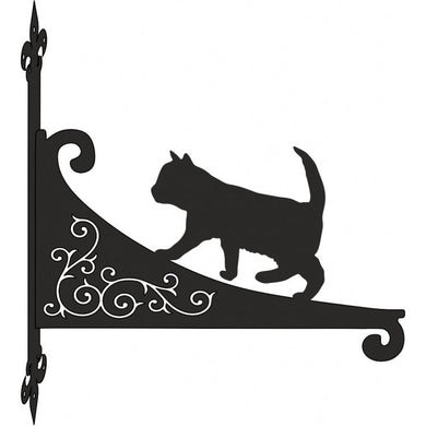 Kitten Walking Ornamental Scroll Metal Hanging Bracket - Attractive Metal Designs