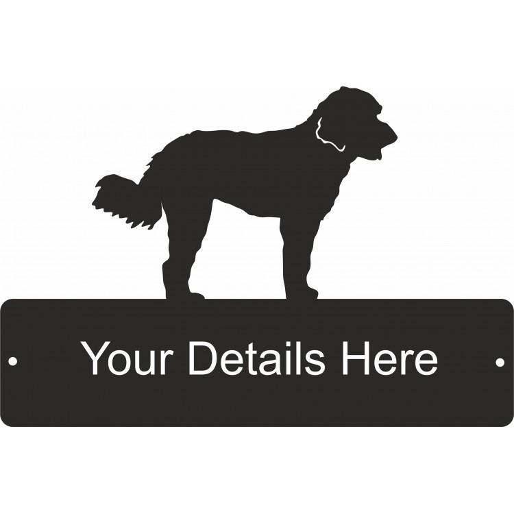 Labradoodle Rectangular Decorative Gate Plaque - Attractive Metal Designs