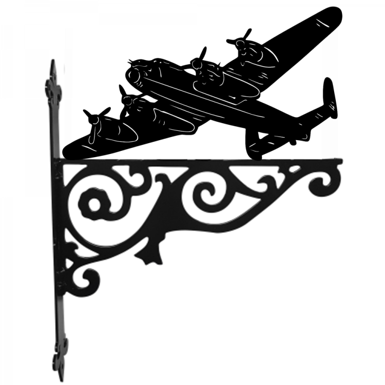 Lancaster Bomber Ornamental Metal Hanging Bracket - Attractive Metal Designs