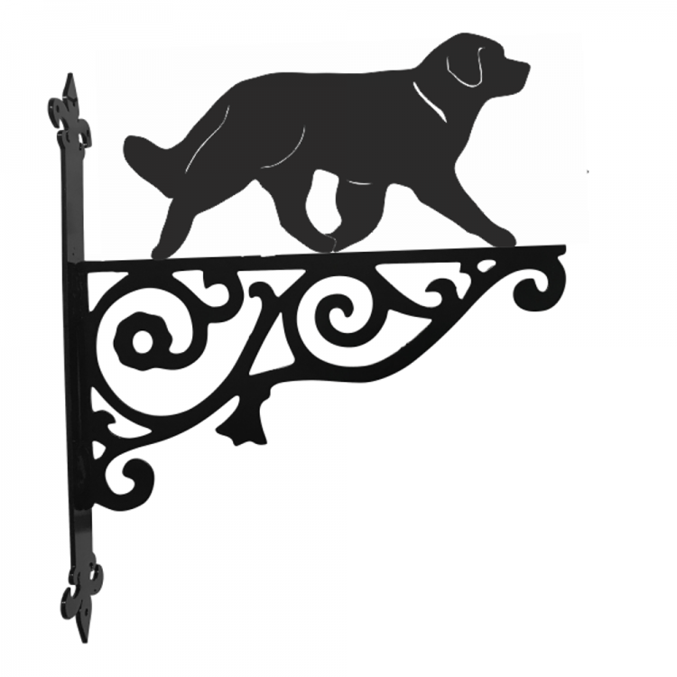 Leonberger Ornamental Metal Hanging Bracket - Attractive Metal Designs