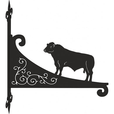 Lincoln Red Bull Ornamental Scroll Metal Hanging Bracket - Attractive Metal Designs