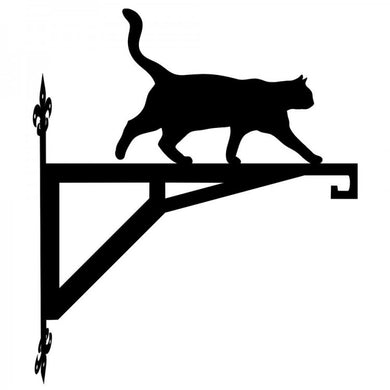 Cat Walking  Modern Metal Hanging Bracket - Attractive Metal Designs