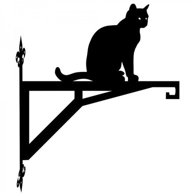 Cat Sitting Modern Metal Hanging Bracket - Attractive Metal Designs