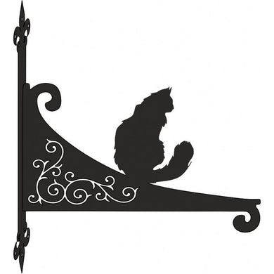 Maine Coon  Ornamental Scroll Metal Hanging Bracket - Attractive Metal Designs