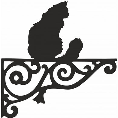 Maine Coon Ornamental Metal Hanging Bracket - Attractive Metal Designs