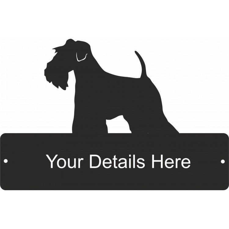 Mini Schnauzer  Rectangular Decorative Gate Plaque - Attractive Metal Designs