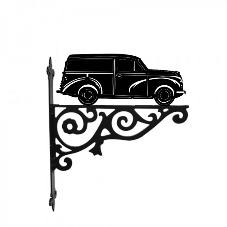 Morris Minor Ornamental Metal Hanging Bracket - Attractive Metal Designs