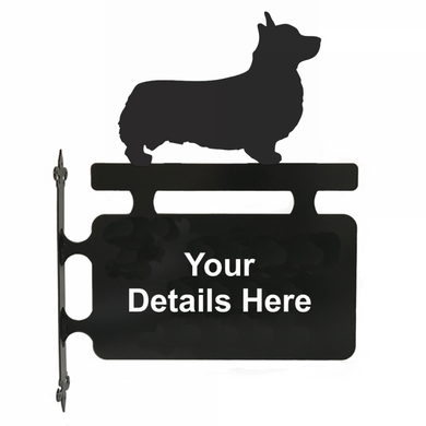 Welsh Corgi Pembroke Hanging Sign - Attractive Metal Designs
