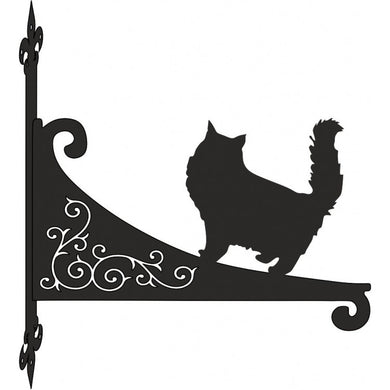 Persian Cat Ornamental Scroll Metal Hanging Bracket - Attractive Metal Designs