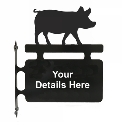 Pig Hanging Sign - Attractive Metal Designs