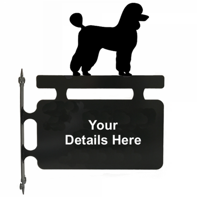 Poodle Hanging House Sign - Attractive Metal Designs