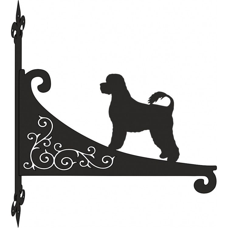 Portuguese Waterdog  Ornamental Scroll Metal Hanging Bracket - Attractive Metal Designs