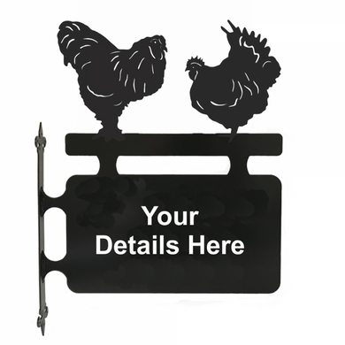 Poultry Hanging Sign - Attractive Metal Designs