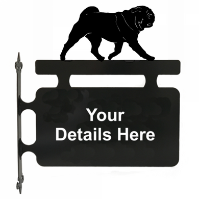 Pug Hanging Sign - Attractive Metal Designs