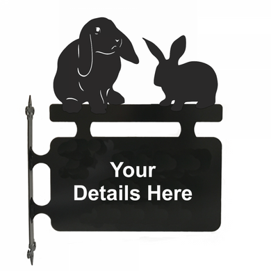 Rabbit Hanging Sign - Attractive Metal Designs