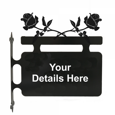 Rose Hanging Sign - Attractive Metal Designs