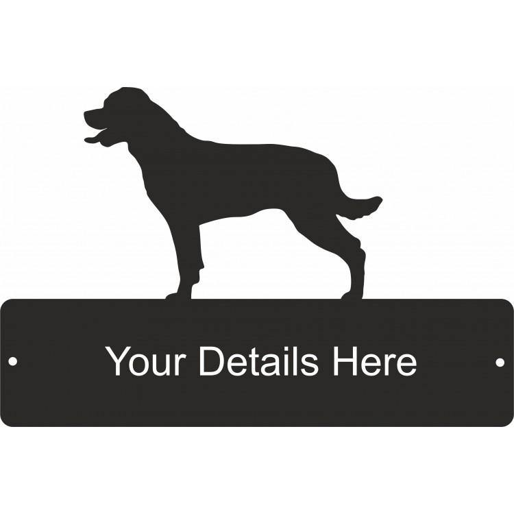 Rottweiler Decorative Gate Plaque - Attractive Metal Designs