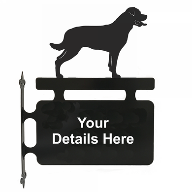 Rottweiler Personalised Hanging Sign - Attractive Metal Designs
