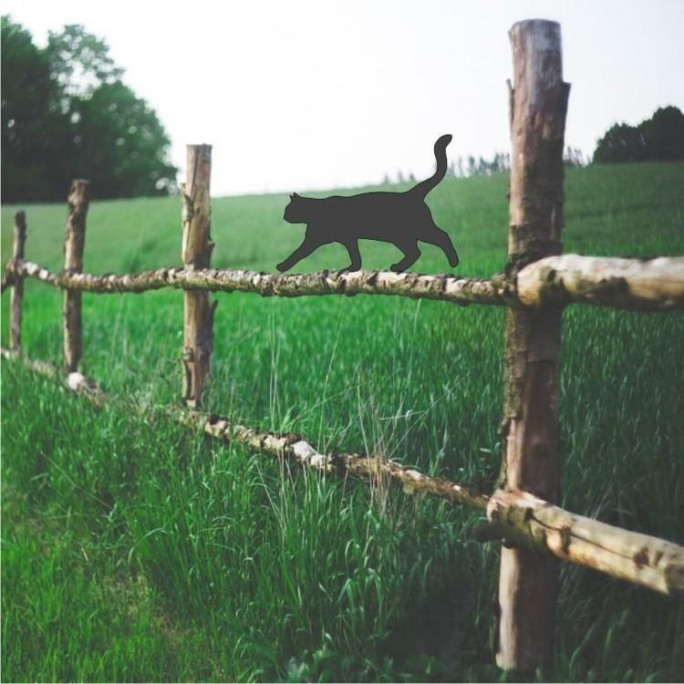 Cat Walking Alternative Fence Garden Topper - Attractive Metal Designs