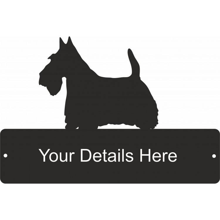 Scottie Dog Decorative Gate Plaque - Attractive Metal Designs