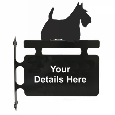 Scottish Terrier Hanging Sign - Attractive Metal Designs