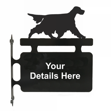 Setter Hanging Sign - Attractive Metal Designs