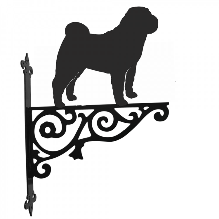 Shar Pei  Ornamental Metal Hanging Bracket - Attractive Metal Designs