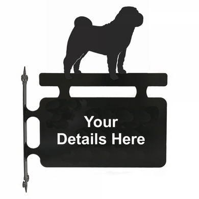 Shar Pei Hanging Sign - Attractive Metal Designs