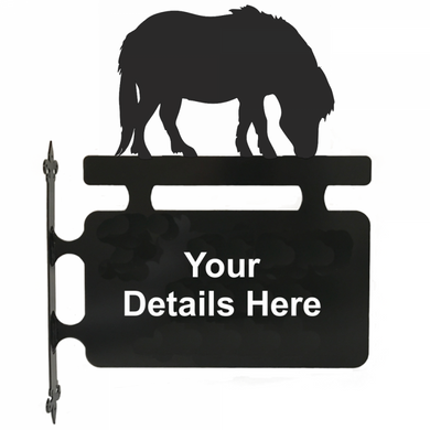 Shetland Pony Hanging Sign - Attractive Metal Designs