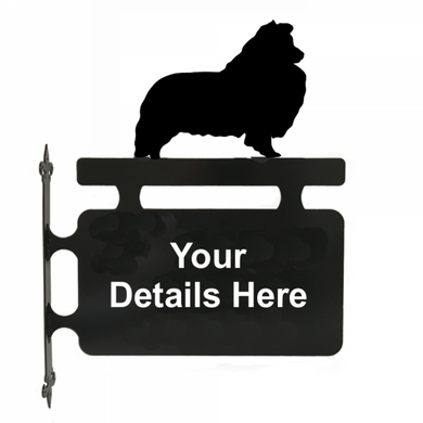 Shetland Sheepdog Hanging Sign - Attractive Metal Designs