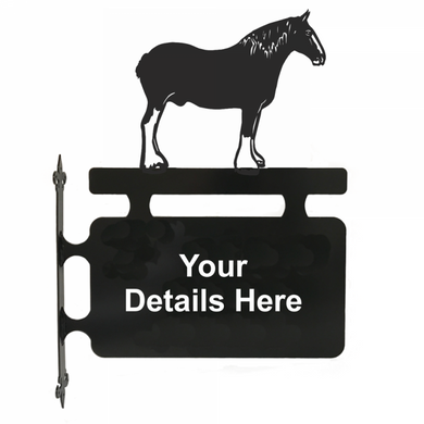 Shire Horse Hanging Sign - Attractive Metal Designs