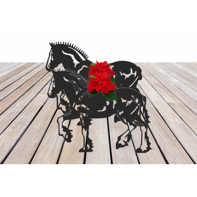 Shire Horse Plaited Garden Planter - Attractive Metal Designs